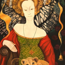 "T.Binovska ""Lady with Cat""(print, poster)"