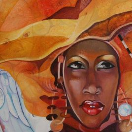 "T.Binovska ""African Lady and Angels"""