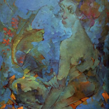 "Г.Измайловский ""Русалка"" холст/масло,  75х60, 1993 год"