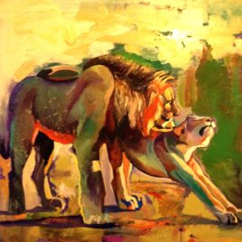 """Morning in Savana""(print, poster)"