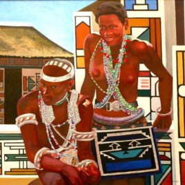 """Lovers. Ndebelle tribe"""