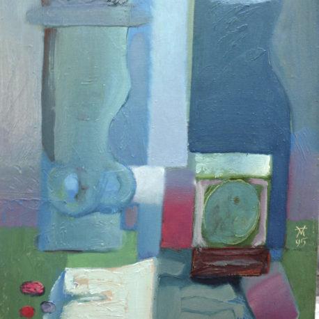 """Алексей Малик """"Голубой натюрморт"""" холст/масло, 40х50см, 1995 год"""