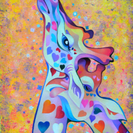 """Giraffes in love"""