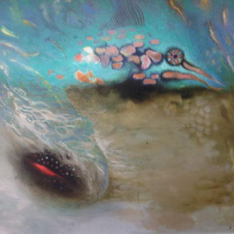 "Симеон Замша ""Рыба"" холст/масло, 60х80см, 1992 год"