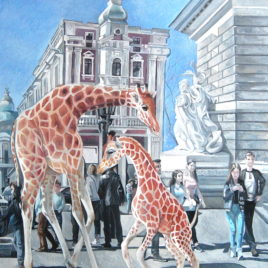 African Invasion. Dance of little giraffes.(Prints, posters)