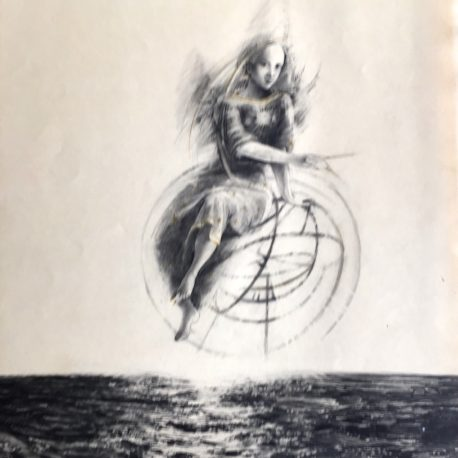 "N. Popova-Severin ""All the goodness of the sea"" paper / pencil, 60x32"