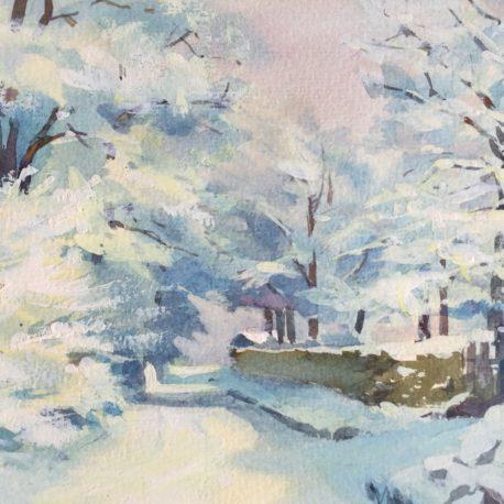 "Unknown ""Winter. watercolor/paper, 16x20 sm"