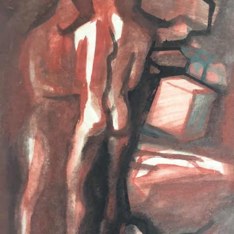 "Yu. Zilberberg ""Untitled (Figures)"" paper / watercolor 43x30"