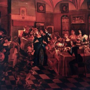 Medieval dinner and my paintings dedicated to Bruges!