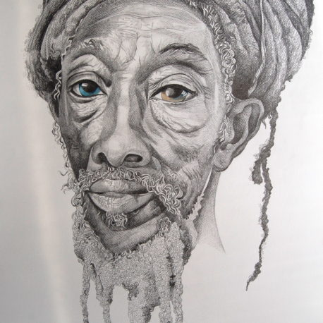 """Old man"" pencil on paper, 100x70 sm, 2020"