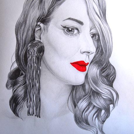 """Potrait of Silvia"" pencil on paper, 80x60sm 2019"