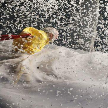 """Snow show"" of Slava Polunin."