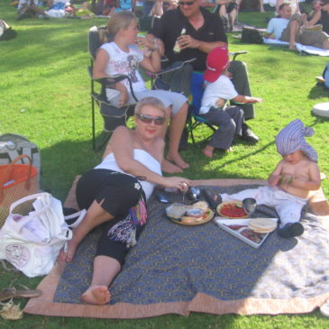 Cape Town. Concerts in the Kirstenbosch park.